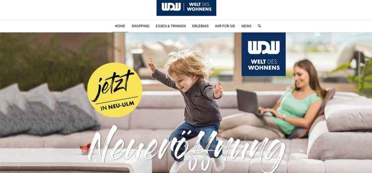EIN SHOPPING CENTER GEHT ONLINE